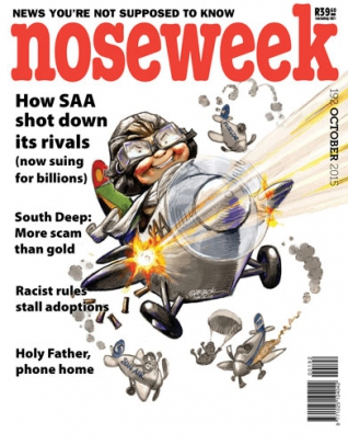 Noseweek Oct 2015 cover